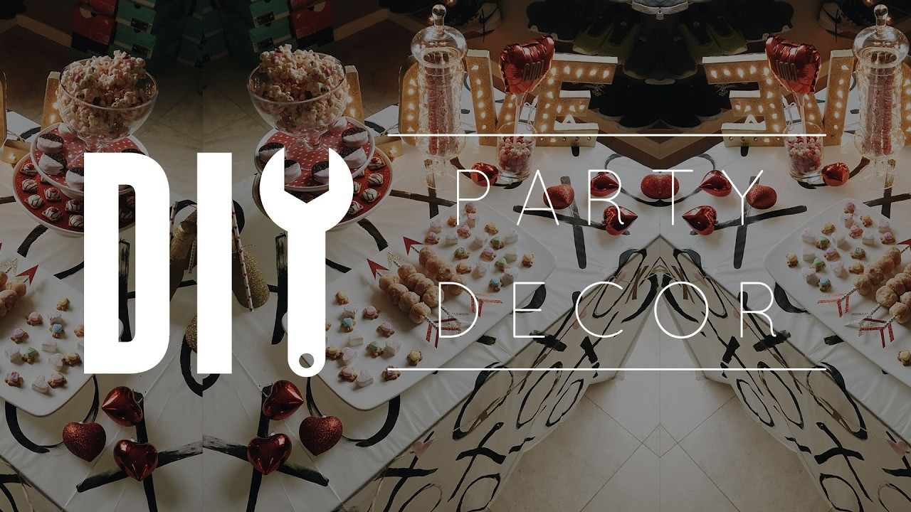 DIY Valentine's Day Party Decor. How to Decorate a Dessert Table