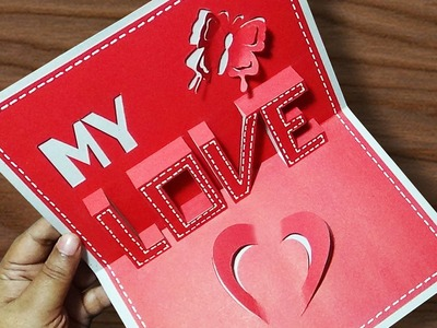 DIY Valentine's Day POP-UP Card | Anniversary Cards  Gift Idea | Handmade Greeting Card Ideas |