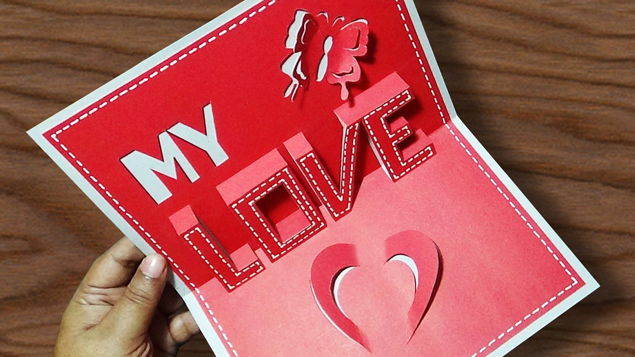 Diy Valentines Day Pop Up Card Anniversary Cards Gift Idea