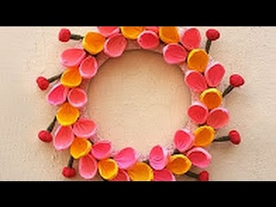 DIY Wall Decoration Ideas : How to Make a DIY Room Decor Using Paper | Christmas Paper Wreath