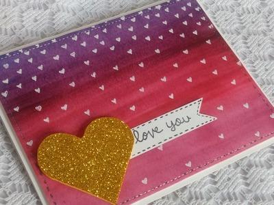Easy DIY Valentine's day card