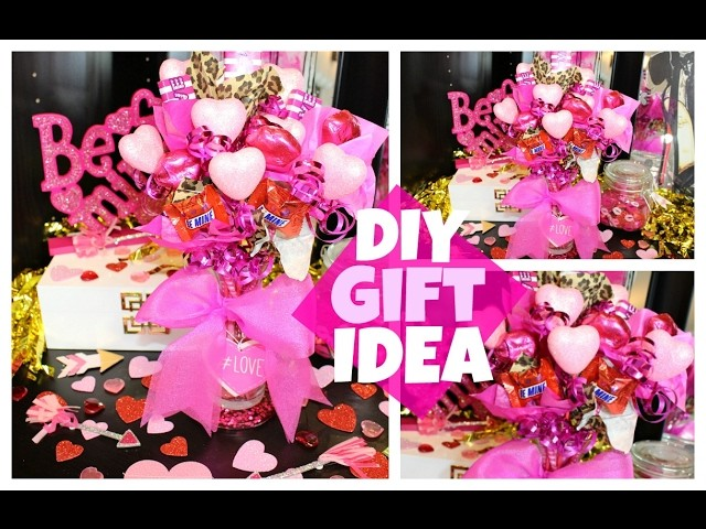 Easy Diy Valentines Day Gift Idea Candy Bouquet