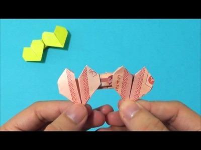 Easy Origami How to Make Double Banknote Love Heart 简单手工折纸 钞票双爱心形 簡単折り紙 紙幣ダブルハートです