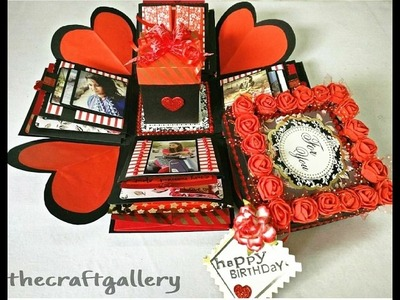 Explosion Box( 3 layer)- Handmade Gift    Valentine's Day Special Gift