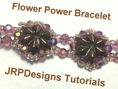 Flower Power Bracelet-intermediate level tutorial left handed
