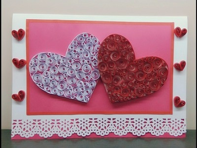 Greeting Card With Quilled Heart |Magic Quill