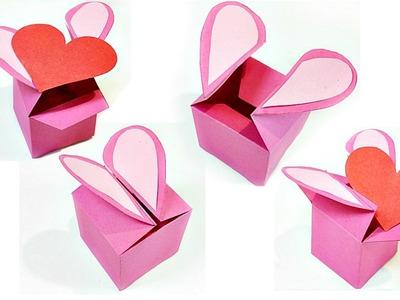 Heart Shaped Gift Box template valentine love heart diy tutorial making easy ideas secret message