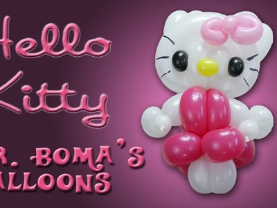 Hello Kitty Balloon Animal Tutorial (Balloon Twisting and Modeling #39)