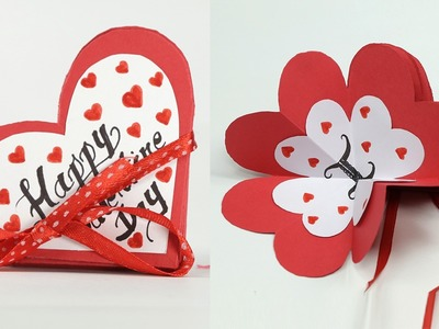 Homemade Valentine Card - DIY Valentine Accordion Flip Card