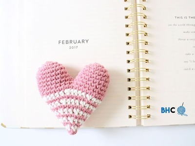 How To Crochet a Heart Amigurumi Left Handed