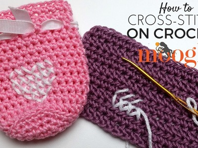 How to Crochet: Cross-Stitch on Crochet (Both Hands)