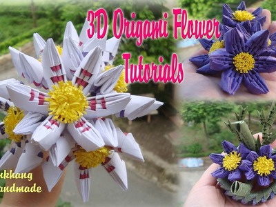 HOW TO MAKE 3D ORIGAMI SIMPLE FLOWER | DIY PAPER FLOWER