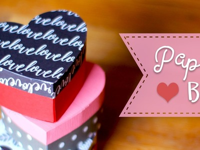 How To Make A Heart Shaped Paper Gift Box