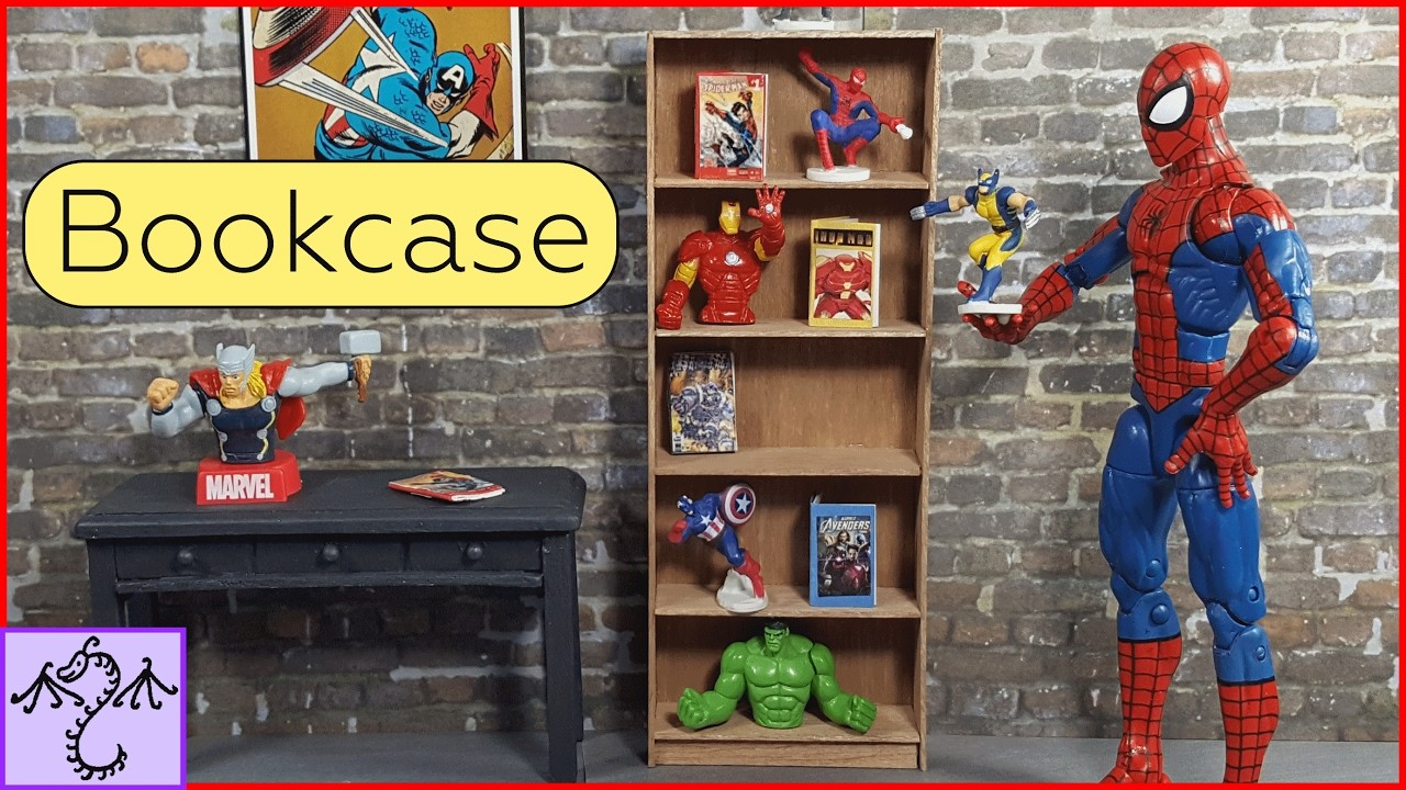 How to Make a Mini Bookcase (1.12 Scale), DIY for Dioramas or Dollhouses
