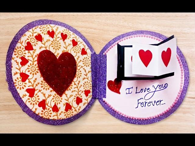 How to Make Beautiful Handmade Valentines Card | DIY Valentine.Anniversary Greeting Card