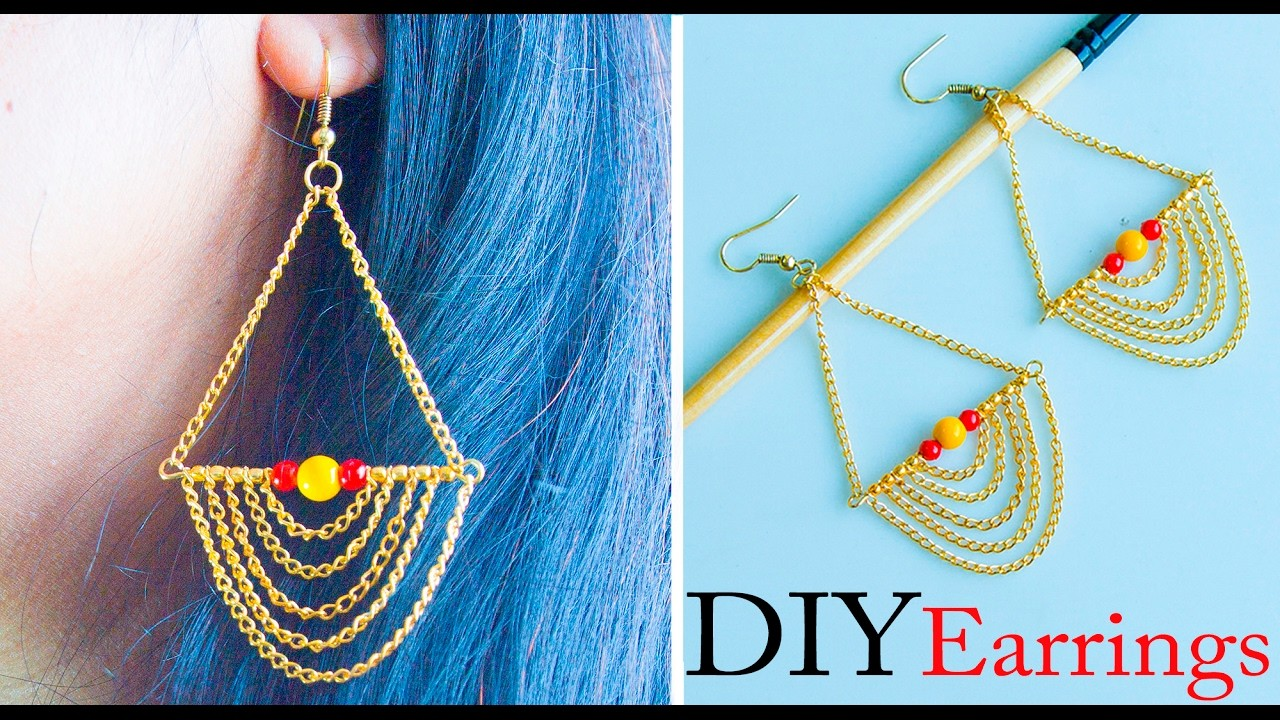 How to make easy earrings | DIY stud earrings | earrings tutorial | earrings making