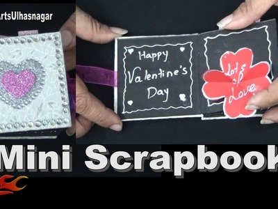 How to make Mini Scrapbook | Valentine's Day Gift Idea | DIY Scrapbook Tutorial | JK Arts 1175