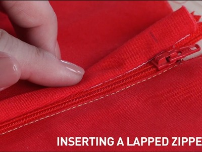 Inserting a Lapped Zipper for Beginners | Sewing Tutorial with Callie Works-Leary