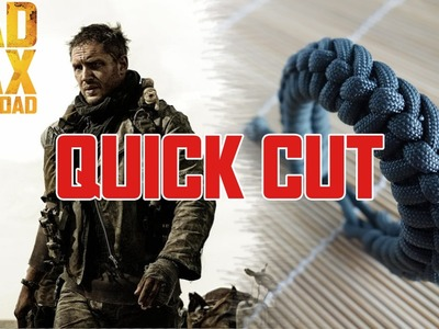 Mad Max Side Step Paracord Bracelet Tutorial Quick Cut