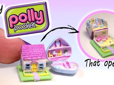 Miniature Polly Pocket Dollhouse Tutorial. DIY Miniature Dollhouse