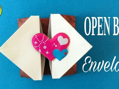 OPEN BOX ENVELOPE -  DIY Origami Tutorial by Paper Folds #696