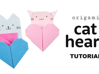 Origami Cat Heart Tutorial ♥︎ DIY ♥︎ Collab with Origami Tree ♥︎