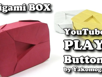 Origami Diamond PLAY BUTTON YouTube by Yakomoga | BOX Origami tutorial