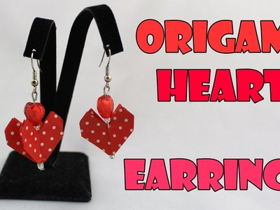 ❤ Origami Earrings Hearts (Origami Jewelry) Instructions