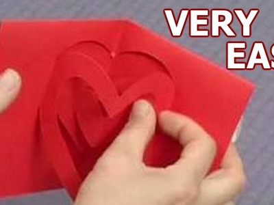Origami - How To Make A Paper Valentine's 3D Pop Up Card