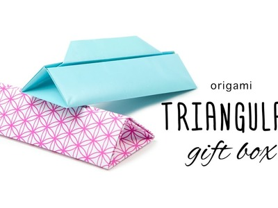 Origami Long Triangular Gift Box Tutorial ▲ DIY ▲ Paper Kawaii