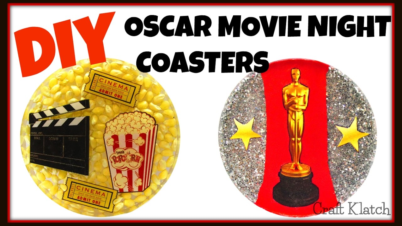 Oscar Movie Night Coasters | DIY Projects | Craft Klatch | Another Coaster Friday | How To