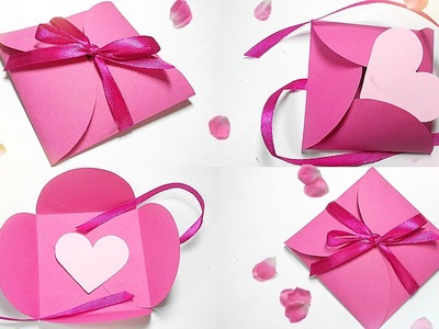 Paper gift box love diy tutorial making easy ideas.valentine love heart& Envelope secret message