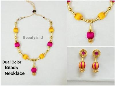 Simple Silk Thread Necklace | Tutorial