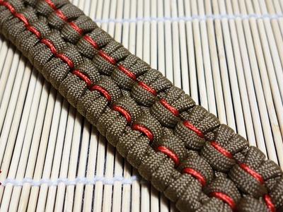 Stitched Chain Sinnet Paracord Bracelet Tutorial