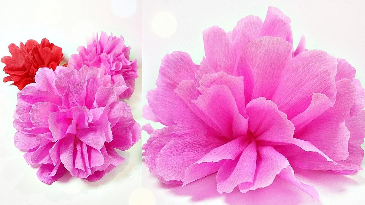 Tissue Paper Flowers Peoniesdiy Paper Peonyrose Flower