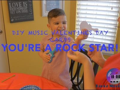 Toddler Music DIY MUSIC VALENTINES DAY CARDS (Kids Craft)  (Kids music) ABC's
