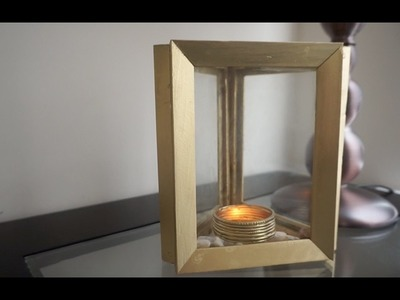 Turn Old Photo Frames into Centerpieces.DIY Candle Holder