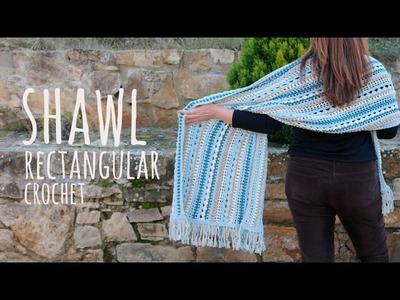 Tutorial Easy Crochet Shawl