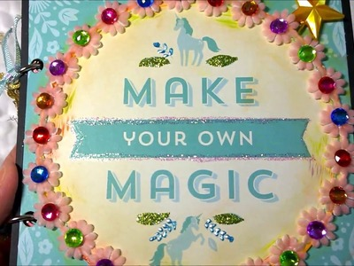 Using Michael's Enchantment Mermaid Unicorn Paper to Make a Mini Book