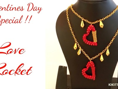 Valentines Day Special DIY   How to make a Silk Thread ♥♥♥ Love Locket ♥♥♥ at Home   Tutorial !