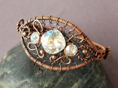 Wire Wrapping Tutorial - New Years Bracelet Part 2
