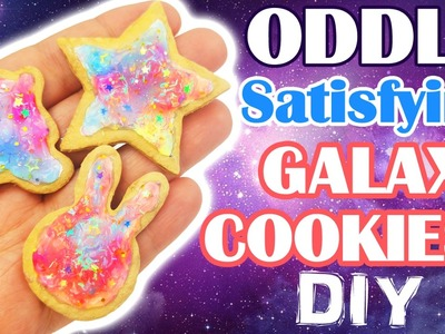 ASMR CRAFTING GALAXY COOKIES polymer clay tutorial ODDLY SATISFYING Jelly Sauce Slimey NerdEcrafter