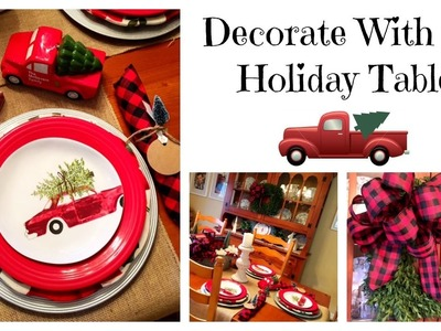 Decorate With Me. Holiday Table & Bow Tutorial