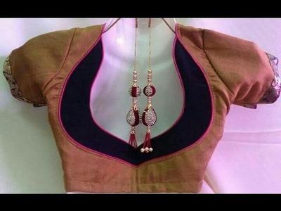 Designer Bridal Back Neck Blouse Pattern (DIY) | Ladies Corner