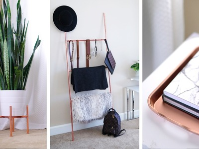 DIY Copper Plant Stand, Accessory Ladder + Home Decor