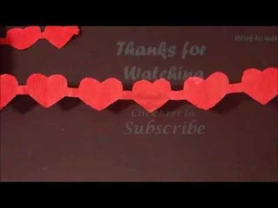 DIY Crepe Streamer Garland for Valentine's Day | Valentine's  Day Decor