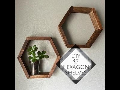 DIY Dollar Tree | $3 Hexagon Shelves