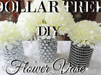 DIY DOLLAR TREE BLING FLOWER VASES DECOR | PETALISBLESS