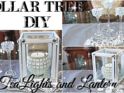 DIY DOLLAR TREE BLING TEALIGHT HOLDER AND LANTERN DECOR | PETALISBLESS