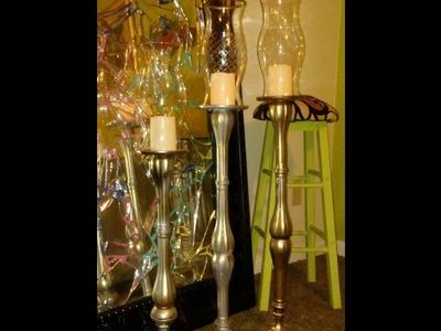 Diy dollar tree floor candle sticks
